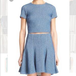 Alice and Olivia Sarina Crop Top and Skirt Sz 2